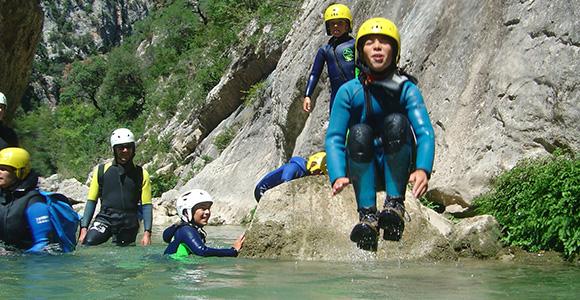canyon famille à Luchon